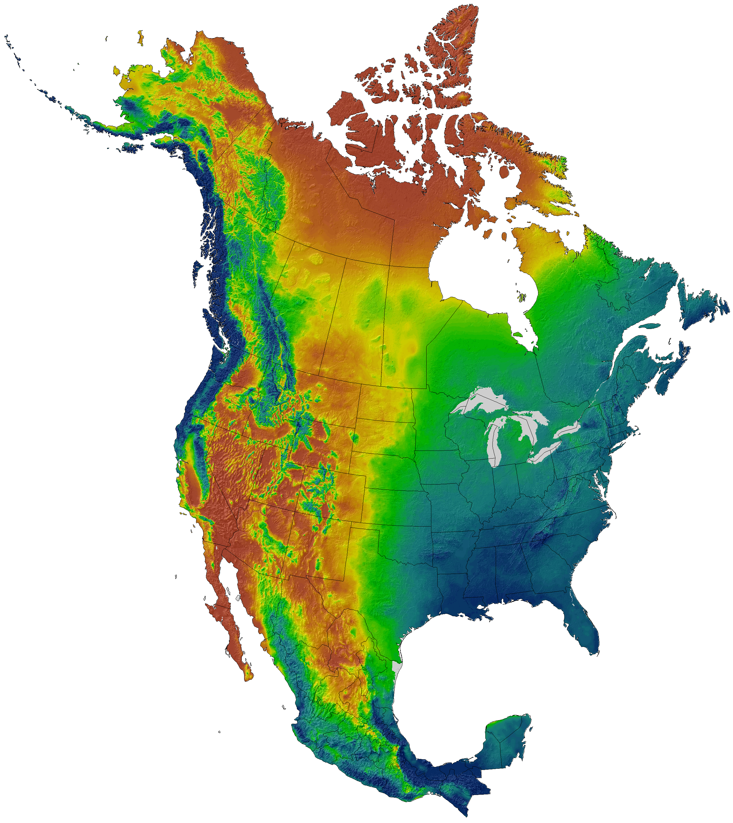 Current and projected climate data for North America (CMIP5 ...