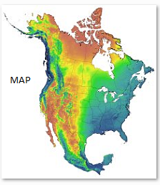 Current and projected climate data for North America CMIP3 scenarios Adap
