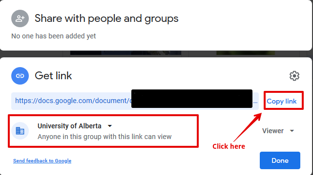Getting a Shareable link from Google Drive
