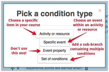 adding conditions