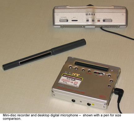 mini-disc recorders to