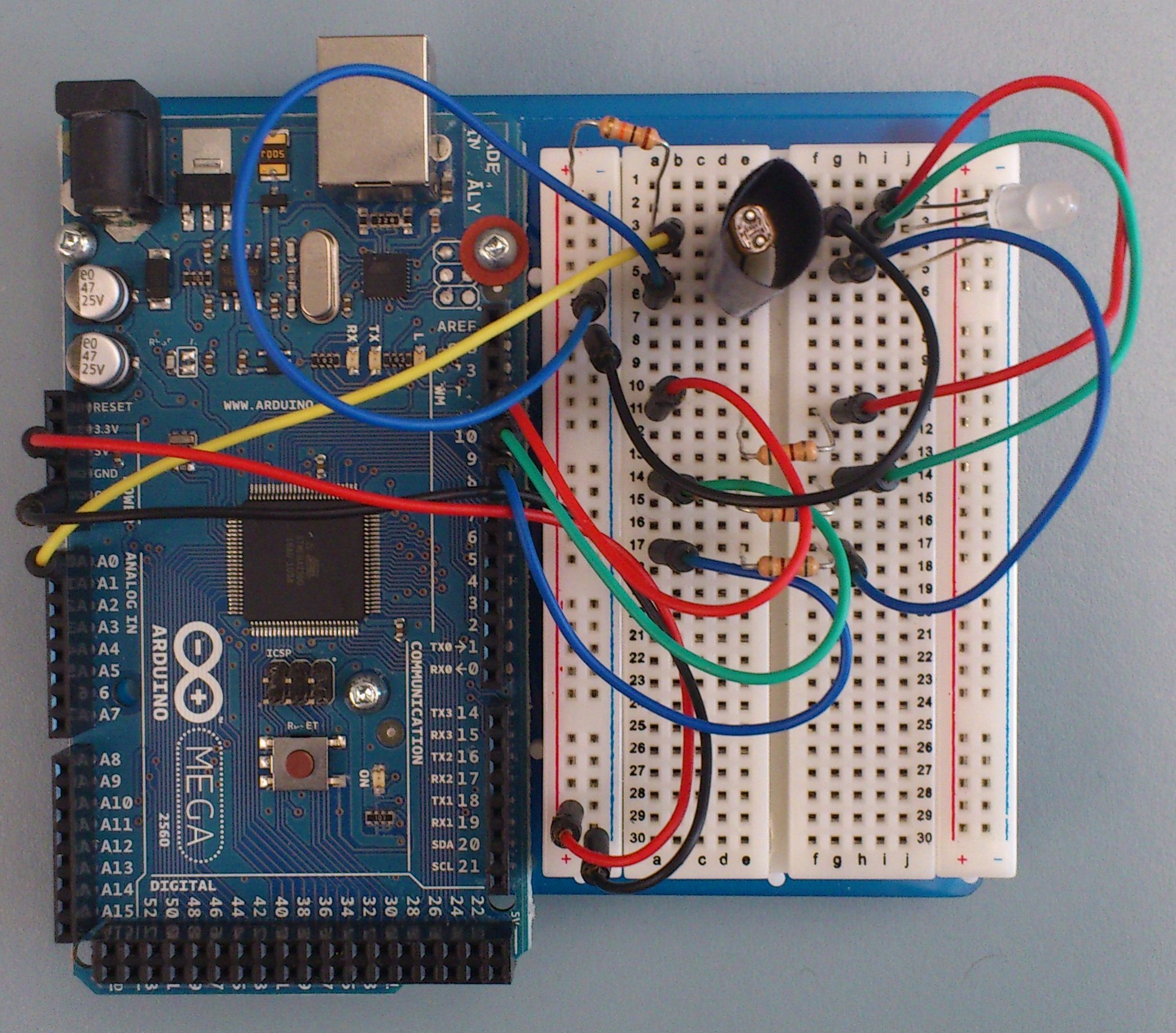 Arduino Intro Labs For Tangible Computing 6 Lab 4 Recognizing Colour Sensor Circuit Mega