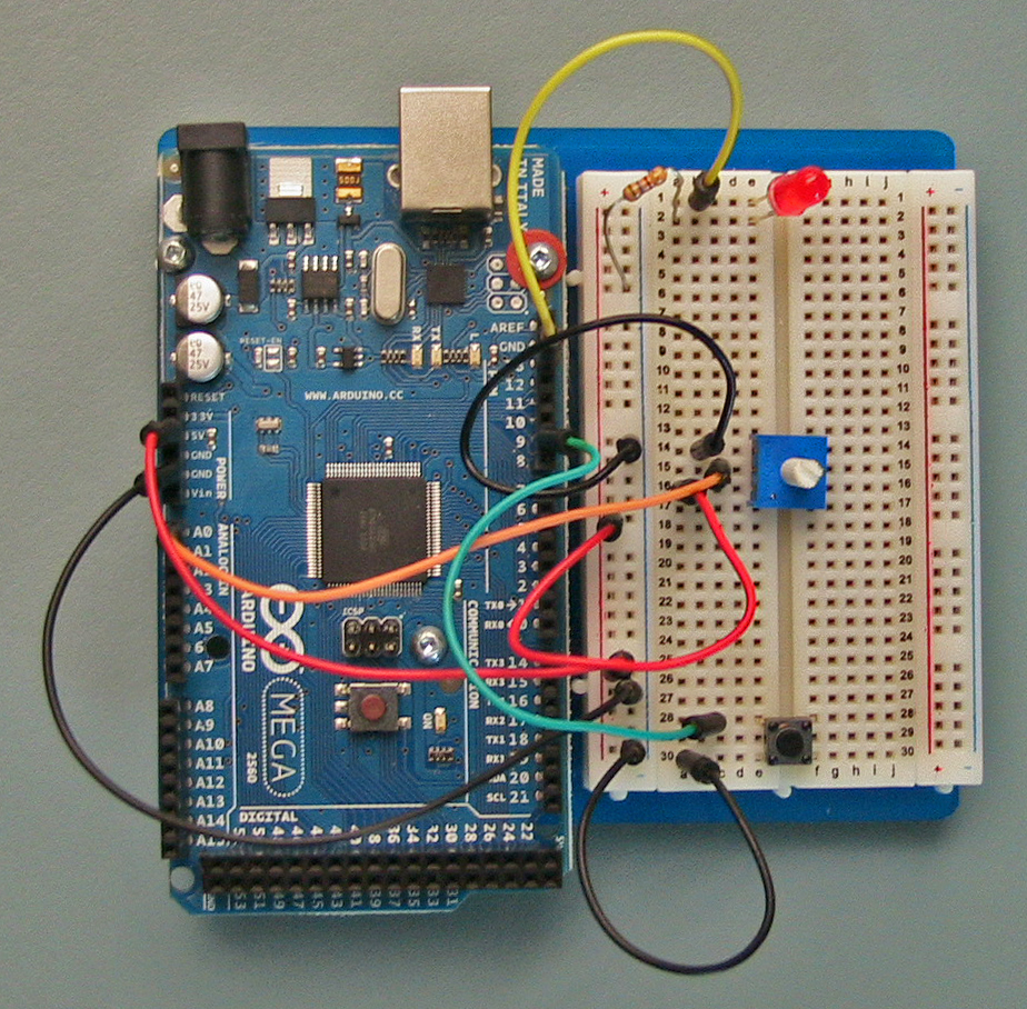 Arduino Intro Labs For Tangible Computing 8 Building Circuits Led Circuit On Breadboard Is 85 Types Of Diagrams