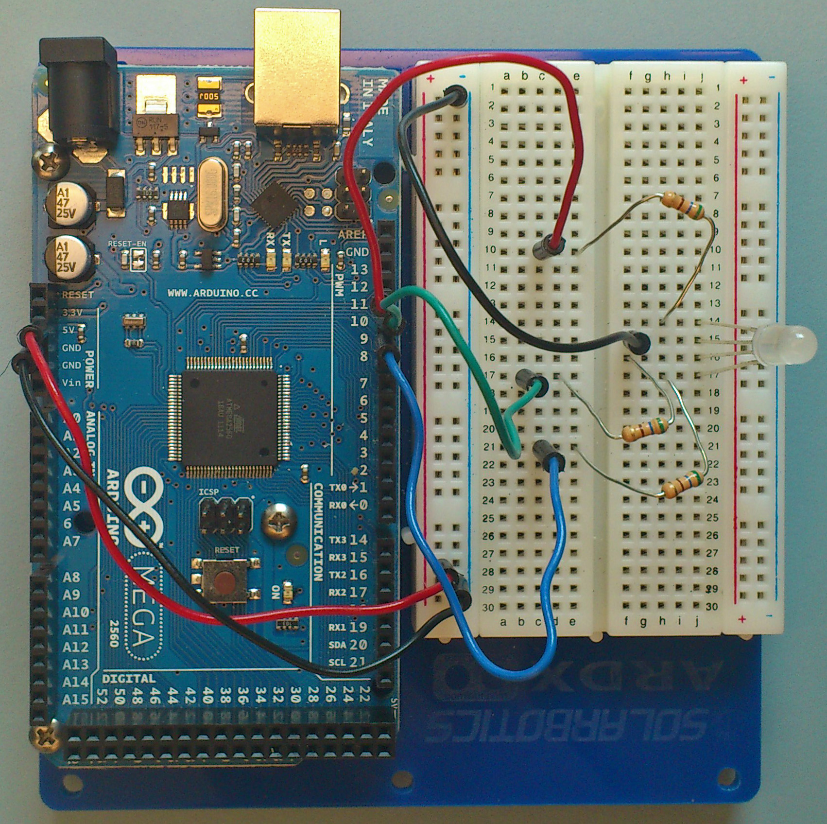 Arduino Intro Labs For Tangible Computing 8 Building Circuits Wiring A Working Breadboard From Circuit Diagram Is Easy If You Tips