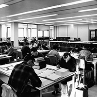 Cameron Library Students