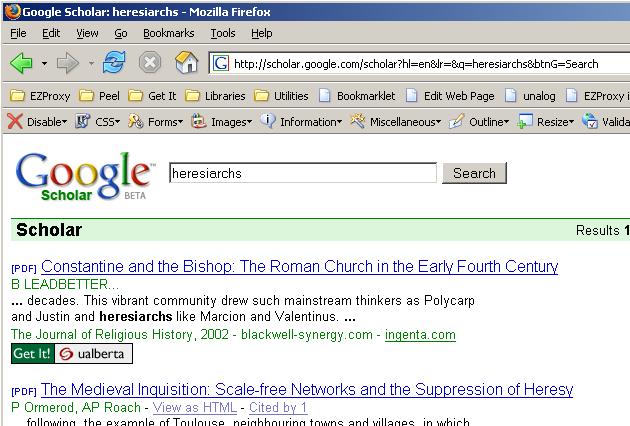 Google Scholar OpenURLs - Firefox Extension