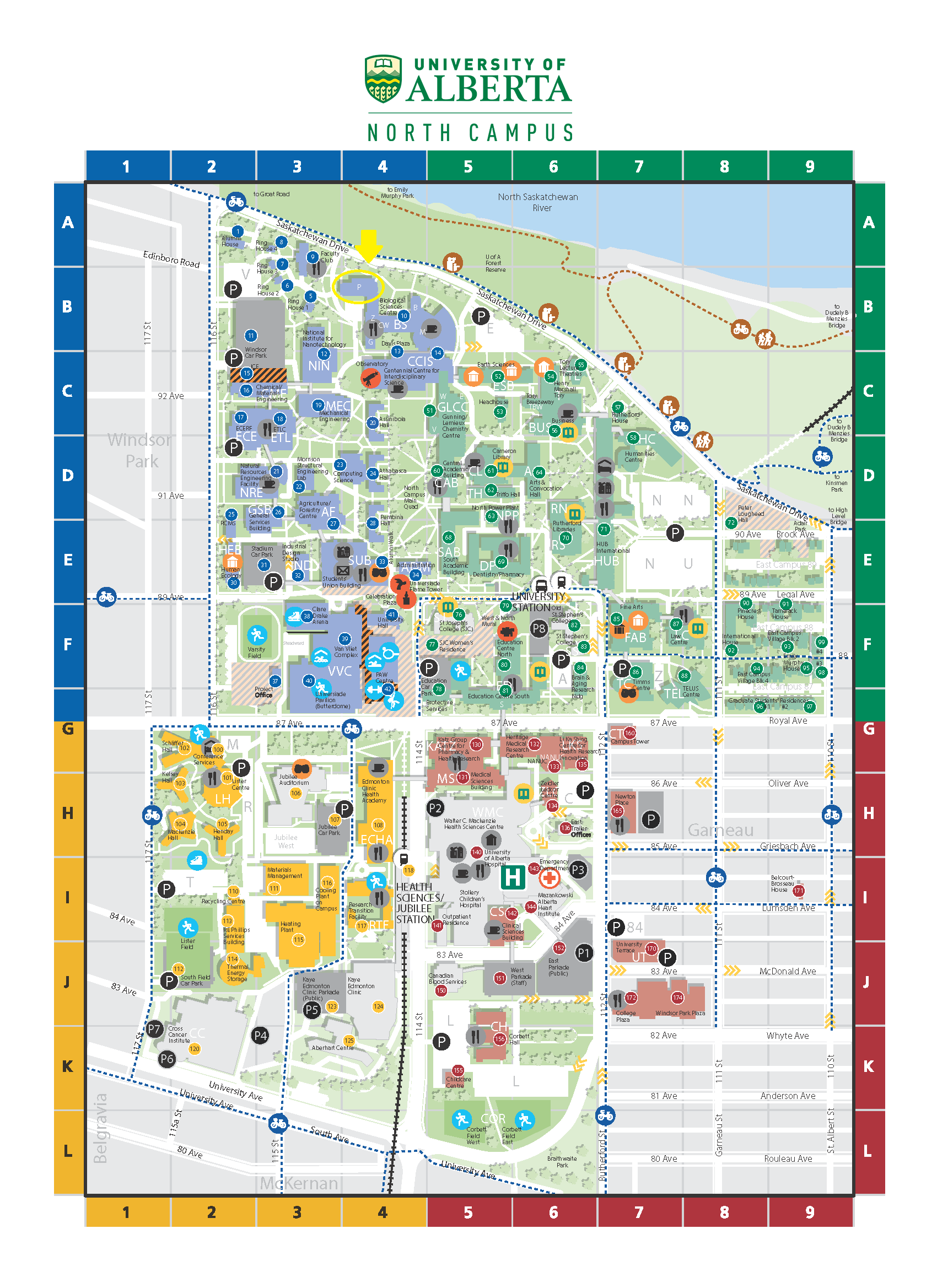 U Of A Map University Of Alberta Campus Map | compressportnederland U Of A Map